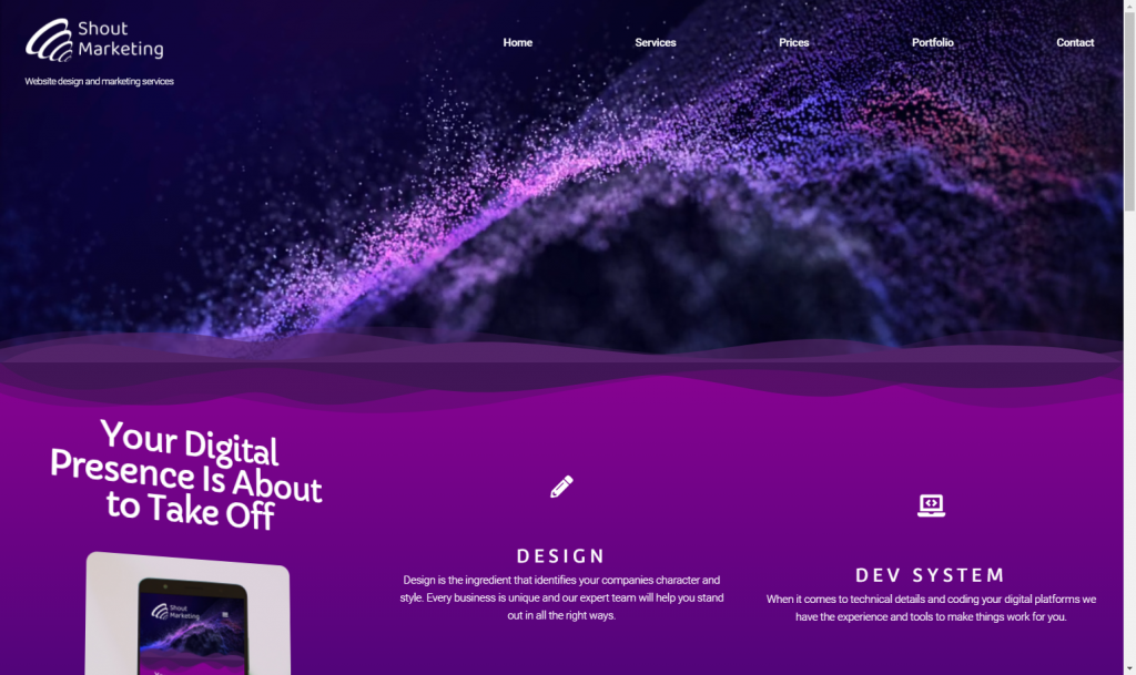Website portfolio, Guildford
